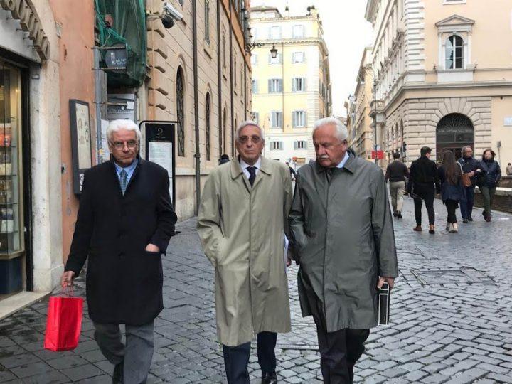 Mauro Nemesio Rossi con Giorgio La Malfa e Carmine Bevilacqua