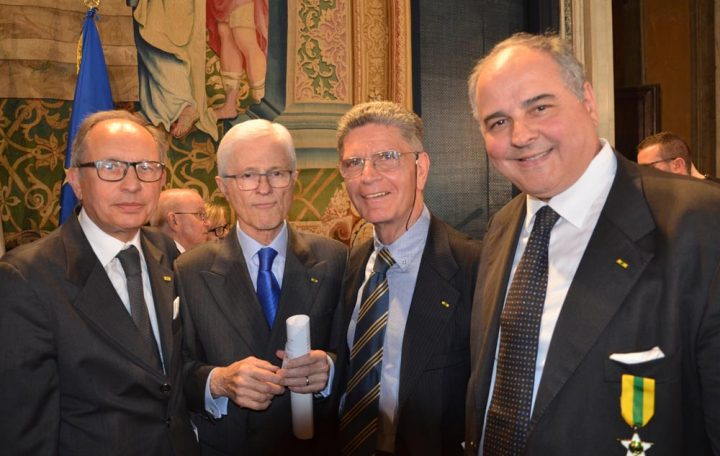una parte della delegazione CESAF con il neo presidente della Federazione Maestri del lavoro Elio Giovati